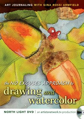 [DVD] No Excuses Journaling With Drawing and Watercolor By Armfield, Gina